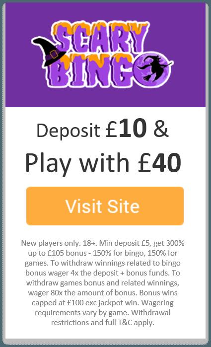 Scary Bingo - Bingo of the Month