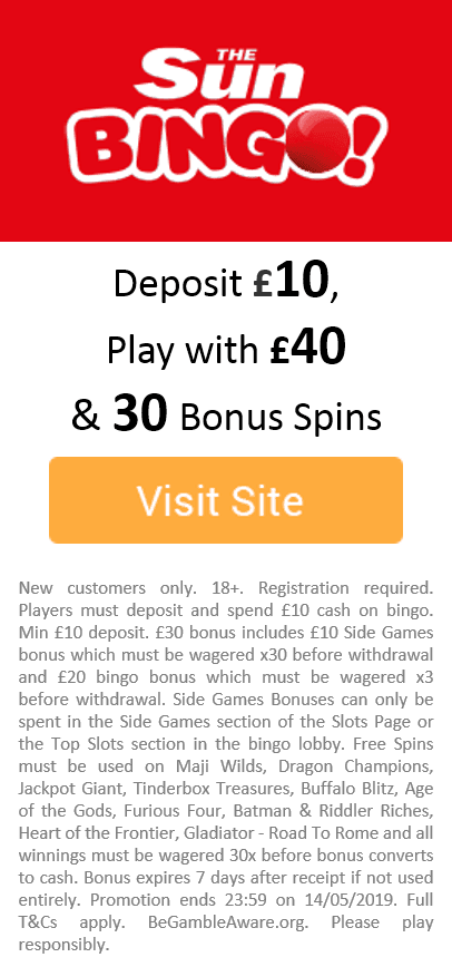 Play Slots at Sun Bingo