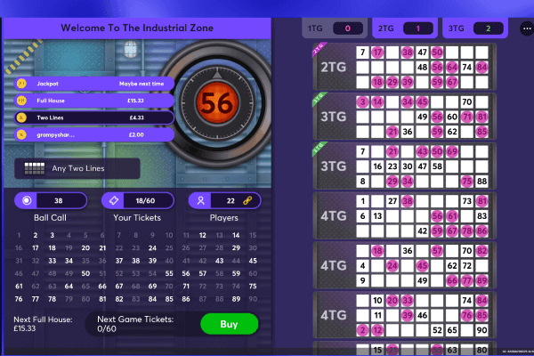 Crystal Maze Bingo