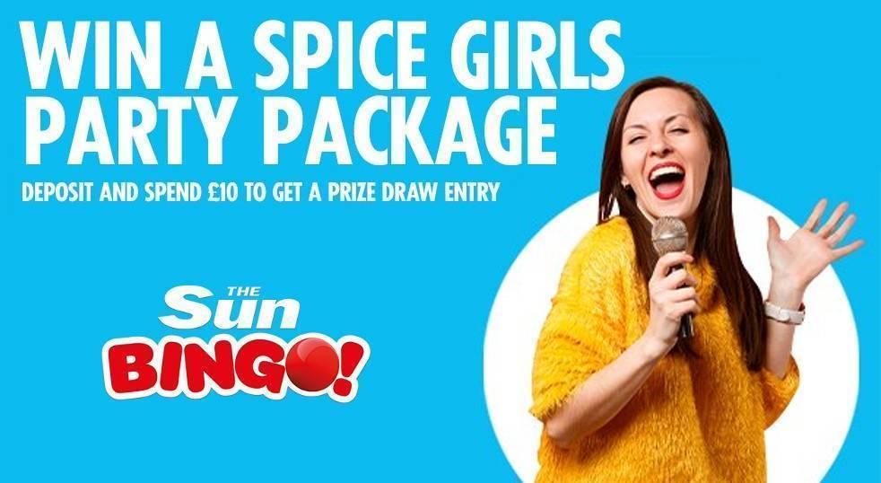 Win Spice Girls VIP Tickets with Sun Bingo